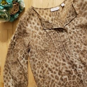 New York & Company Leopard Blouse